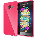 Samsung Galaxy A3 2016 Coque Silicone de NICA, Ultra-Fine Housse Protection Cover Slim Premium Etui, Mince Telephone Portable Gel Case Bumper Souple pour Samsung A3 2016 Smart-Phone - Pink Rose