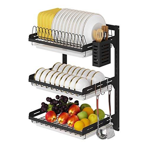 Framy-shelf Abtropfgestell Abtropfgestell Wandmontage Punch-Free Edelstahl Hanging Dish Rack Plate Storage Küchenregal