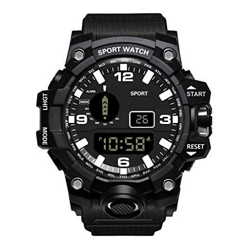 Anglewolf Herren Uhren FüR MäDchen Geschenke Sportuhren Wasserdicht Elektronische Mode Armbanduhren Sportuhr Digitales Modisch Sport Multifunktionsuhr Elektronische Sportuhr