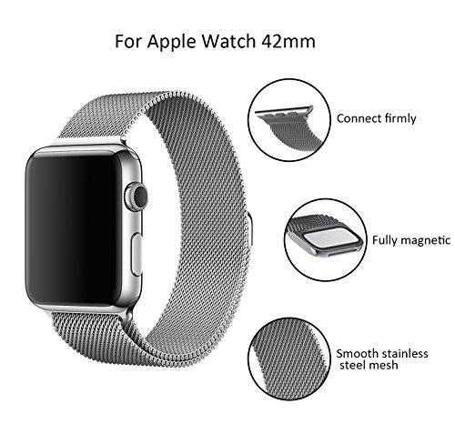 apple-watch-correa-aidbucks-42mm-milanese-loop-correa-de-acero-inoxidable-reemplazo-de-banda-de-la-m