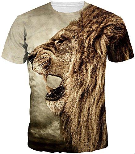 imbry-herren-rundhals-t-shirt-casual-3d-druck-grosse-xl-xxl-motiv-lowe