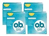 o.b. Compact Applicator Normal Tampons mit geschwungenen Rillen und Einführhilfe