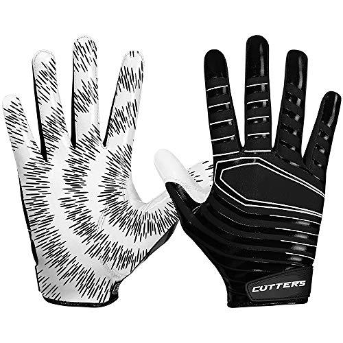 Cutters Gloves S252 Rev 3.0 American Football Receiver Handschuhe Modell 2018 - Schwarz Gr. L