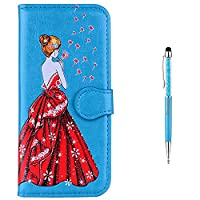iPhone 6 Case,iPhone 6S Case,GrandoinŽ [Colorful Girl Prints Series] Premium PU Leather Magnetic Flip Cover with Card Slots Holders [Soft Silicone Inner] Bookstyle Wallet Case For Apple iPhone 6/iPhone 6S 4.7