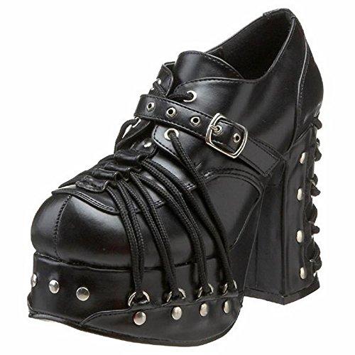 Demonia Charade-35 - Gotica Punk Plataforma Zapatos de Tacón Mujer - Tamaño 36-43, US-Damen:EU-39/US-9/UK-6