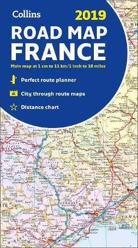 2019 Collins Map of France por Collins Maps