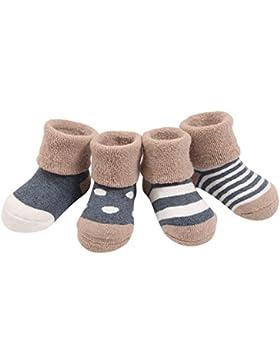 Fletion 4 Paar Winter Warme Baby Jungen Mädchen Verdickte Wollsocken Kinder Gekämmte Baumwolle Wolle Socken mit...