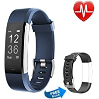 Proze Fitness Tracker HR Band+ Activity Tracker Smart Watch with Heart Rate Monitor Pedometer IP67 Waterproof Sleep Tracker GPS Wearable Smart Bracelet for iOS & Android Smartphones