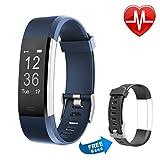 Proze Fitness Armband Tracker mit Herzfrequenz Band+ Aktivitätstracker Pulsmesser