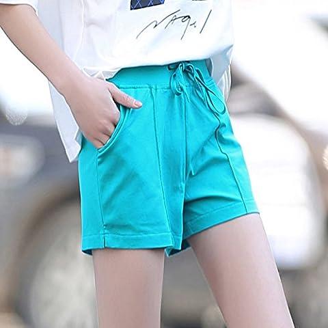 QNQA yoga sports short shorts occasionnels, fitness, version coréenne, sport mesdames,green,l