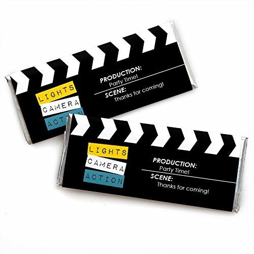 Movie - Hollywood Candy Bar Wrappers Partyzubehör, 24 Stück (Papier Dem Auf Dot Candy)