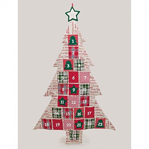 Calendario dell' Avvento da riempire in feltro XXL | dimensioni: 75x 115cm | Calendario natalizio per bambini & adulti | Calendario regalo da appendere | Calendario albero di Natale come regalo di Natale decorativo |