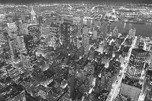 Poster de New York la nuit xxl: Vue sur Manhattan l'empire state building–Dimensions: 175x 115cm