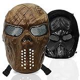 stargoods Skelett Softair Maske–Metall Mesh Paintball, Bb Gun, & CS Spiele, Goldfarbener Totenschädel