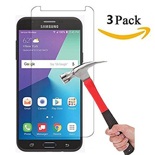 Vada-Tec | 3x bruchsicheres Panzerglas für Samsung Galaxy J7 2017 | Schutzfolie aus 9H Echtglas | Schutzglas zur Vermeidung von Displayschaden | blasenfreie Anbringung | 3 Stück