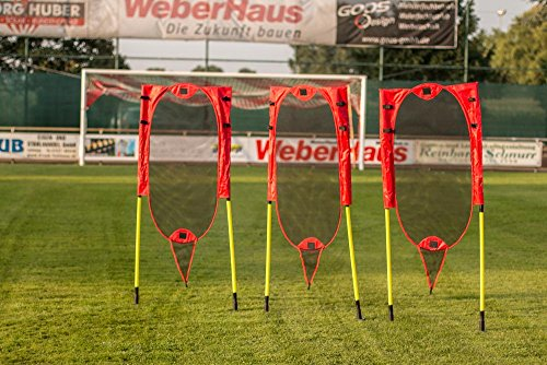 POWERSHOT   Pop-Up Flexible Free-Kick Mannequins - Set of 3 - INNOVATIVE POP-UP FLEXI-MESH DESIGN - Perfect for football teams