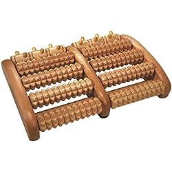 Croll & Denecke Rouleau de massage en bois pour les pieds 2 x 5 roulettes