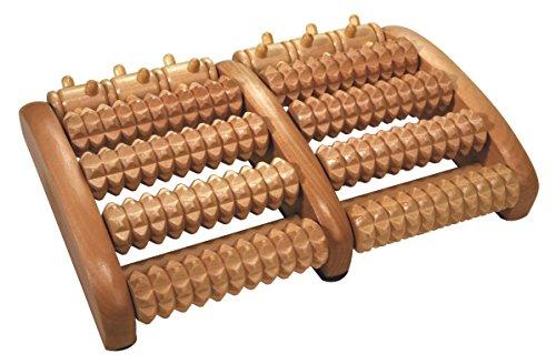 Fußreflexzonenmassage Manuelle (Croll & Denecke Fußroller, aus Holz, 2 x 5 Rollen)