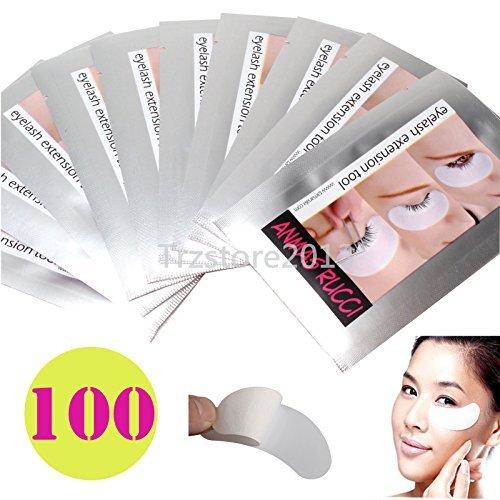 Windmax 10/30/50/100pcs Cerne Coussinets Patch Robinets pour bricolage False Cil Lashe Extension Maquillage - 100PCS