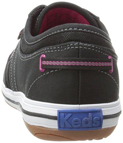 Keds Women's Craze T-Toe Twill Sneaker, Black, 10 M US Black