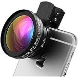 Objectif Universel HD 2 en 1 VTIN 0.45X Super Grand Angle + 10X Super Macro Kit Lentille Professionelle Caméra pour iPhone 7 SE, Samsung, Huawei P9 P8, d'autres Téléphones Portables