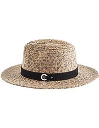 YUUVE Straw Hat Large Brim Sun Hat Women Summer Beach Cap Big Foldable Floppy Fedora Hats for Women Grils