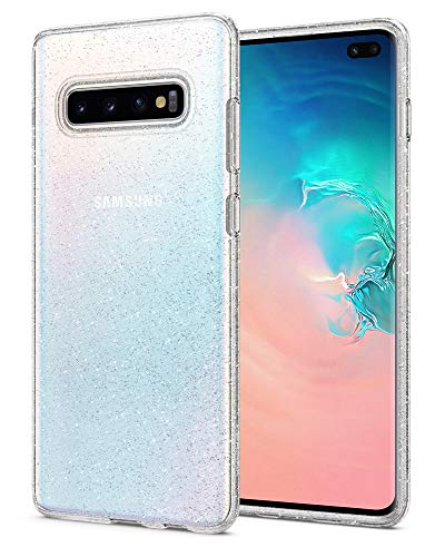 Spigen Liquid Crystal Glitter Kompatibel Mit Samsung Galaxy S10 Plus Hülle, Glitzer Design Transparent TPU Silikon Handyhülle Durchsichtige Schutzhülle Case - Crystal Quartz Glitter-crystal Design
