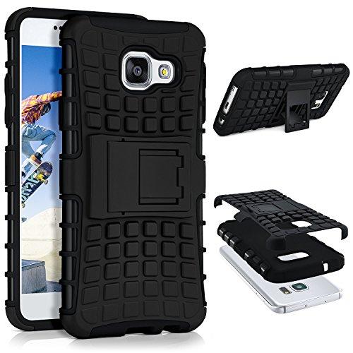 Tank Case für Samsung Galaxy A3 (2016) | Outdoor Hülle mit Dual Layer Protection | Handy Schutz Tasche von OneFlow | Back Cover in Schwarz