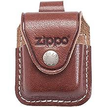 Zippo Pouch W/Loop Brown Bolsa de cuero