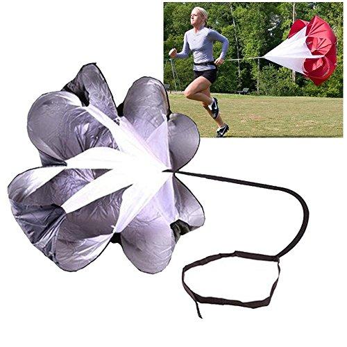 Leegoal Speed-Training, Running Parachute Fußball Training Widerstand Fallschirm Regenschirm für Running und Fitness Gewicht Core Krafttraining, Schwarz