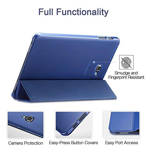 Carcasa Folio Ligera Delgada con Reverso Transl/úcido//Soporte Plegable para 10.1 Pulgadas Galaxy Tab A SM-T510 T515 2019 Vino Procase Funda Tipo Libro para Galaxy Tab A 10.1 2019 T510//T515