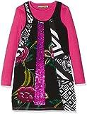 Desigual Mädchen Kleid Vest_ARGEL, Schwarz (Negro 2000), 128 (Herstellergröße: 7/8)