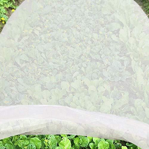 JYCRA Pflanzen-Frostschutztuch, Premium Vliesstoff, Pflanzen-Abdeckung, wiederverwendbar, schwimmende Reihen-Abdeckung für Gartenpflanzen, Gemüse, Vliesstoff, weiß, 2 m x 6 m -