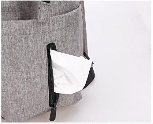 Scheppend Anti-Diebstahl Multi funktionelle Mumie Tasche Travel Rucksack Schulter Windel wechseln Tasche/Rucksack für Männer, Frauen Rot