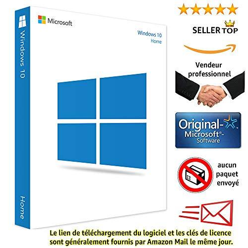 Windows 10 Home(Famille) 32/64 Bits Licence | Français | Clé d'activation originale et livraison gratuite par e-mail | Assistance et instructions (Satisfait ou remboursé) Licence perpétu