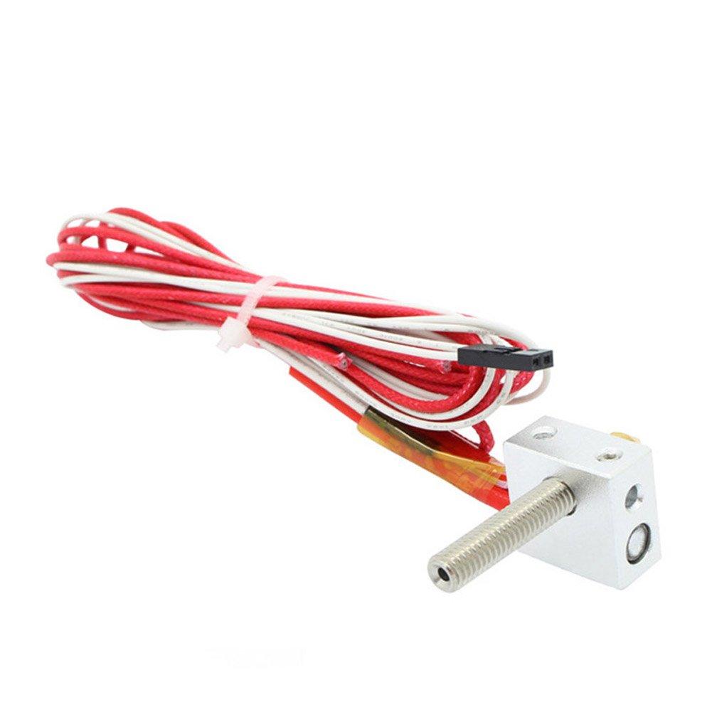 Rokoo Kit d'extrémité chaude d'extrudeuse de buse de 12V 1.75mm 0.4mm MK8 pour l'imprimante 3D de Prusa i3