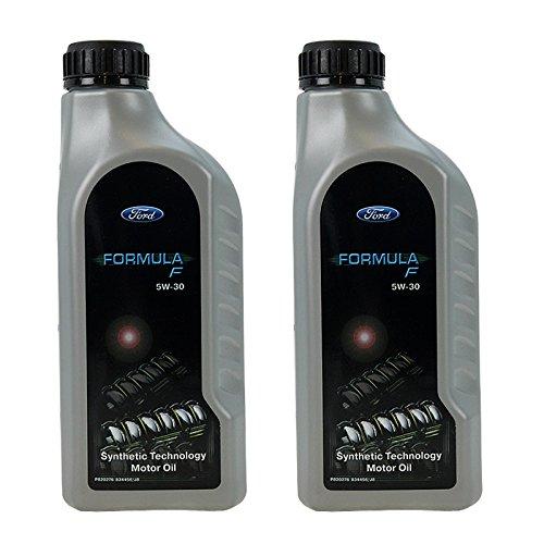 Klimaanlage Öl (2x 1 L Liter Ford Formula F 5W-30 Motor-Öl Motoren-Öl; Spezifikationen/Freigaben: ACEA A5/B5; WSS-M2C913-C (beinhaltet WSS-M2C913-A, WSS-M2C913-B))