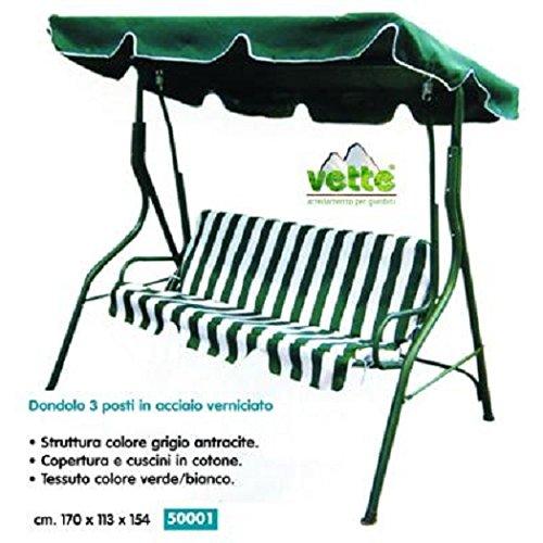 Bascule Fer Vert/Blanc 170 x 113 x 154 C/Coussins