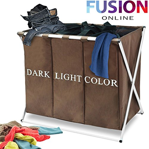 large-3-sections-folding-laundry-basket-washing-clothe-storage-basket-bin-hamper-fusion-tm