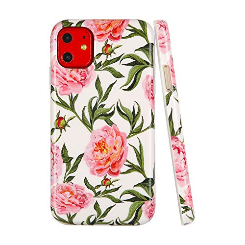 SunshineCases【Kompatibel: Apple iPhone 11】 Dünne, Ganzkörper-Schutzhülle für Damen und Mädchen, Watercolor Botanical Garden