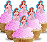 Cakeshop 12 x PRE-CUT Disney Ariel Princess Stand Up Edible Cake Toppers - Premium Wafer Paper
