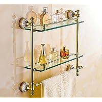 Mmhy rack porta asciugamani da parete in rame vetro cosmetici continentale bagno bagno accessori hardware Storage rack, bagno, bright your life