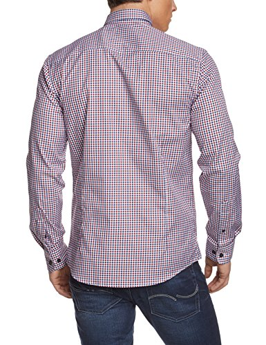 SELECTED HOMME Herren Slim Fit Business Hemd One Oak. Shirt Ls Noos Id Rot (Sun-Dried Tomato)
