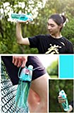 ? 600ml portatile a prova di perdite, sport spray bottiglia d' acqua con levetta plastica borraccia per bambini studenti Adulits ciclismo, guida, arrampicata