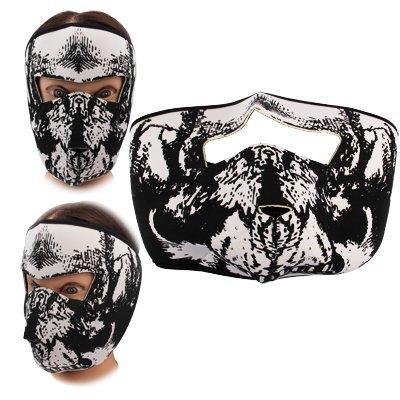 Smart Protector Neoprene Maske / Skull / Fahrrad Maske / Totenkopf / Ghost Mask / Halloween / Fasching / Weiss - Schwarz -
