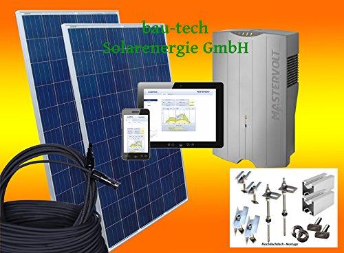 2000Watt Solaranlage Photovoltaikanlage Eigenverbrauch Plug & Play für Steckdose mit Montagematerial für Flachdach