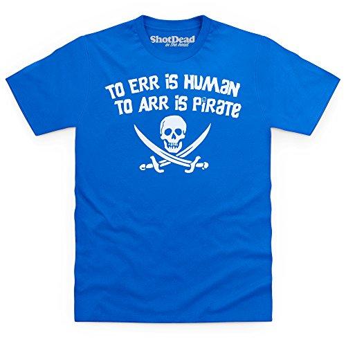 Pirate Err T-shirt, Uomo Blu royal
