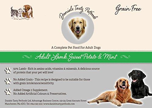 Welpenfutter Hundefutter–Lamm, Sweet Potato und Minze