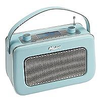 Vintage Style Quality DAB / FM Digital Radio Clock Radio Alarm Clock (Duck Egg Blue)