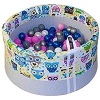 Tweepsy Kinder Baby Kleinkind Bällebad Kugelbad Spielen Bällchenpool Babyspielzeug 150 Bälle 90x40cm Handgefertigt EU - BB2 preisvergleich bei kleinkindspielzeugpreise.eu